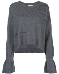 Cinq À Sept Embroidered Josephine Sweater - Gray