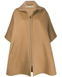 Stella McCartney Oversized Zip-front Cape - Natural
