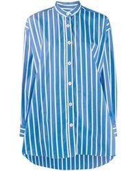 ODEEH ストライプ シャツ - ブルー