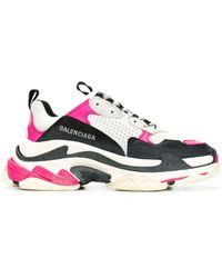 Balenciaga Sneakers Triple S aus Leder - Mehrfarbig