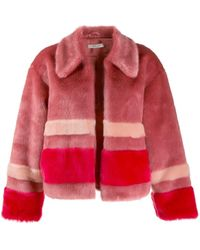 Three Floor Trinity Faux Fur Jacket - Pink