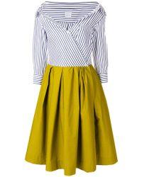 Sara Roka - Contrasting Striped Bardot Dress - Lyst