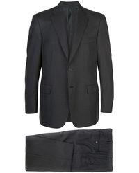 Brioni Anzug mit Nadelstreifen - Grau
