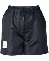 Thom Browne Logo-patch Track Shorts - Blue