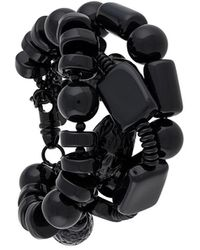 DSquared² Layered Beaded Bracelet - Black