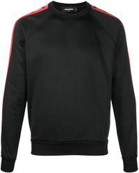 DSquared² サイドストライプ ロングtシャツ - ブラック