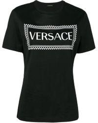 Versace 1990's ロゴ Tシャツ - ブラック