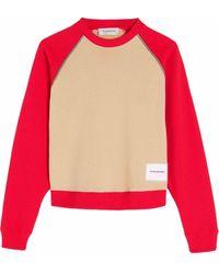 Victoria Beckham Sweat colour block - Multicolore