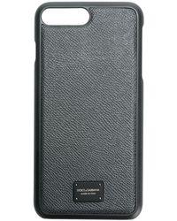 Dolce & Gabbana Logo Plaque Iphone 7 Plus Case - Gray