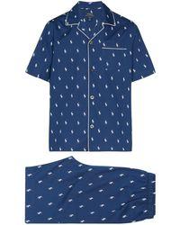Polo Ralph Lauren Pyjama Met Logoprint - Blauw
