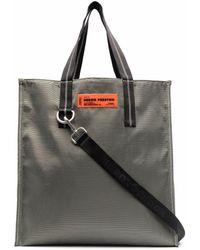 Heron Preston Logo-patch Tote Bag - Gray