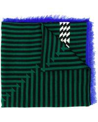 Haider Ackermann Optical stripe scarf - Verde