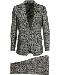 Dolce & Gabbana - Floral Jacquard Evening Suit - Lyst