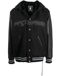 MASTERMIND WORLD Cashmere Hooded Bomber Jacket - Black