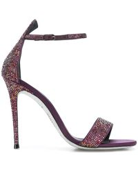 Rene Caovilla Embellished Strappy Sandals - Розовый
