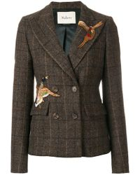 Mulberry - Bird Patch Double Breasted Jacket - Lyst