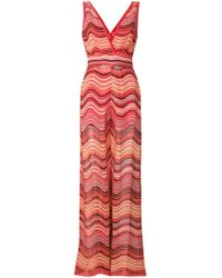 M Missoni - Striped Knit V-neck Jumpsuit - Lyst