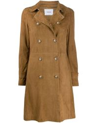 Dondup Fitted Double Breasted Coat - Brown