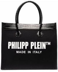 Philipp Plein Borsa tote con logo - Nero