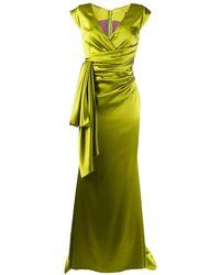 Talbot Runhof - Драпированное Платье С Рукавами Кап - Lyst