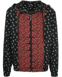 The Upside Floral Running Jacket - Black