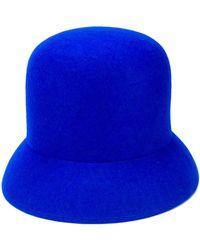 Nina Ricci Sombrero de ala angulada - Azul