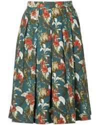 Loveless - Floral Flared Skirt - Lyst