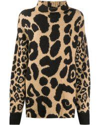 Stella McCartney Джемпер С Леопардовым Принтом - Многоцветный