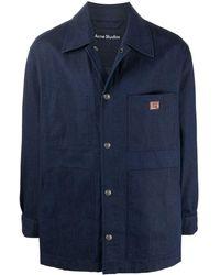 Acne Studios デニムシャツジャケット - ブルー