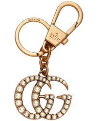 Gucci Dubbele G-ring Met Parels - Metallic