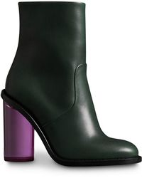 Burberry - Two-tone Leather High Block-heel Boots - Lyst