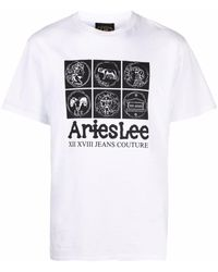 Aries X Lee 'coin' Tシャツ - ホワイト