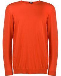 Drumohr Pullover mit rundem Ausschnitt - Orange