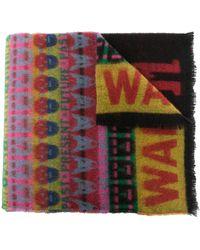 Walter Van Beirendonck I Love W ウールスカーフ - マルチカラー