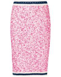P.A.R.O.S.H. - Bouclé Knitted Skirt - Lyst