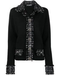 Dolce & Gabbana Джемпер С Твидовыми Вставками - Черный