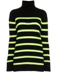 Balmain Striped Cashmere Blend Jumper - Black