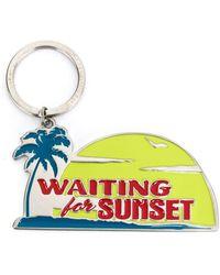 Saint Laurent Waiting For Sunset Keyring - Metallic