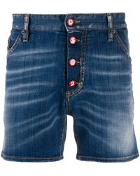 DSquared² Button-up Shorts - Blue