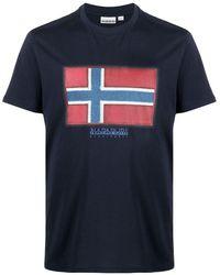 Napapijri ロゴ Tシャツ - ブルー