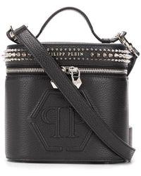 Philipp Plein Embellished Box Tote Bag - Black
