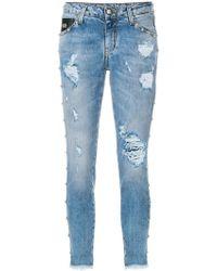 John Richmond | Distressed Skinny Jeans | Lyst