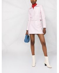 Courreges ロゴ Aラインスカート - ピンク