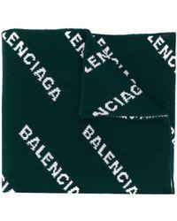 Balenciaga - オールオーバーロゴ マフラー - Lyst