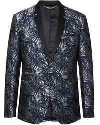 Philipp Plein Patterned Blazer - Black