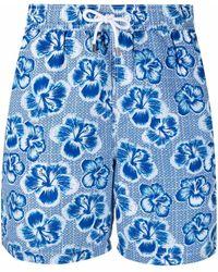 Hackett Floral-print Drawstring-waist Swim Shorts - Blue