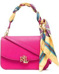 Lauren by Ralph Lauren ロゴプレート ショルダーバッグ - ピンク