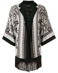 Etro - Embroidered Fringed Cape - Lyst