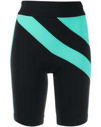 NO KA 'OI Sweetie On Colour-block Cycling Shorts - Black