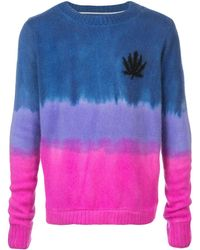 The Elder Statesman Gradient Fitted Jumper - Blue